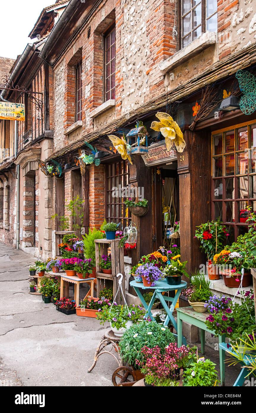 Fleuriste Petit Andely Les Andelys Normandie France Photo Stock Alamy