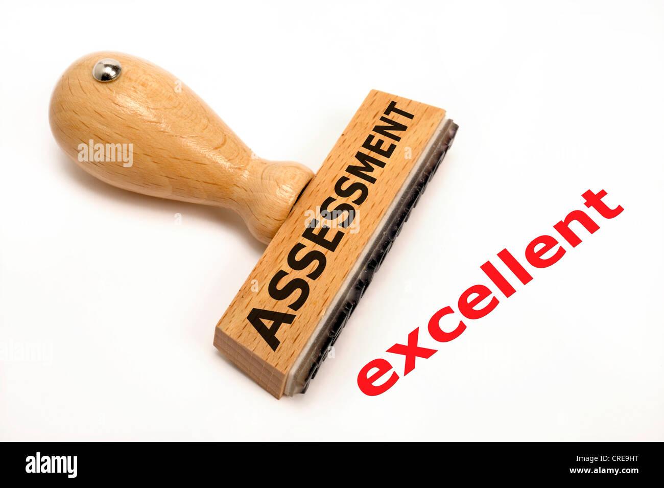 Timbres en caoutchouc marqués d'excellente évaluation Photo Stock