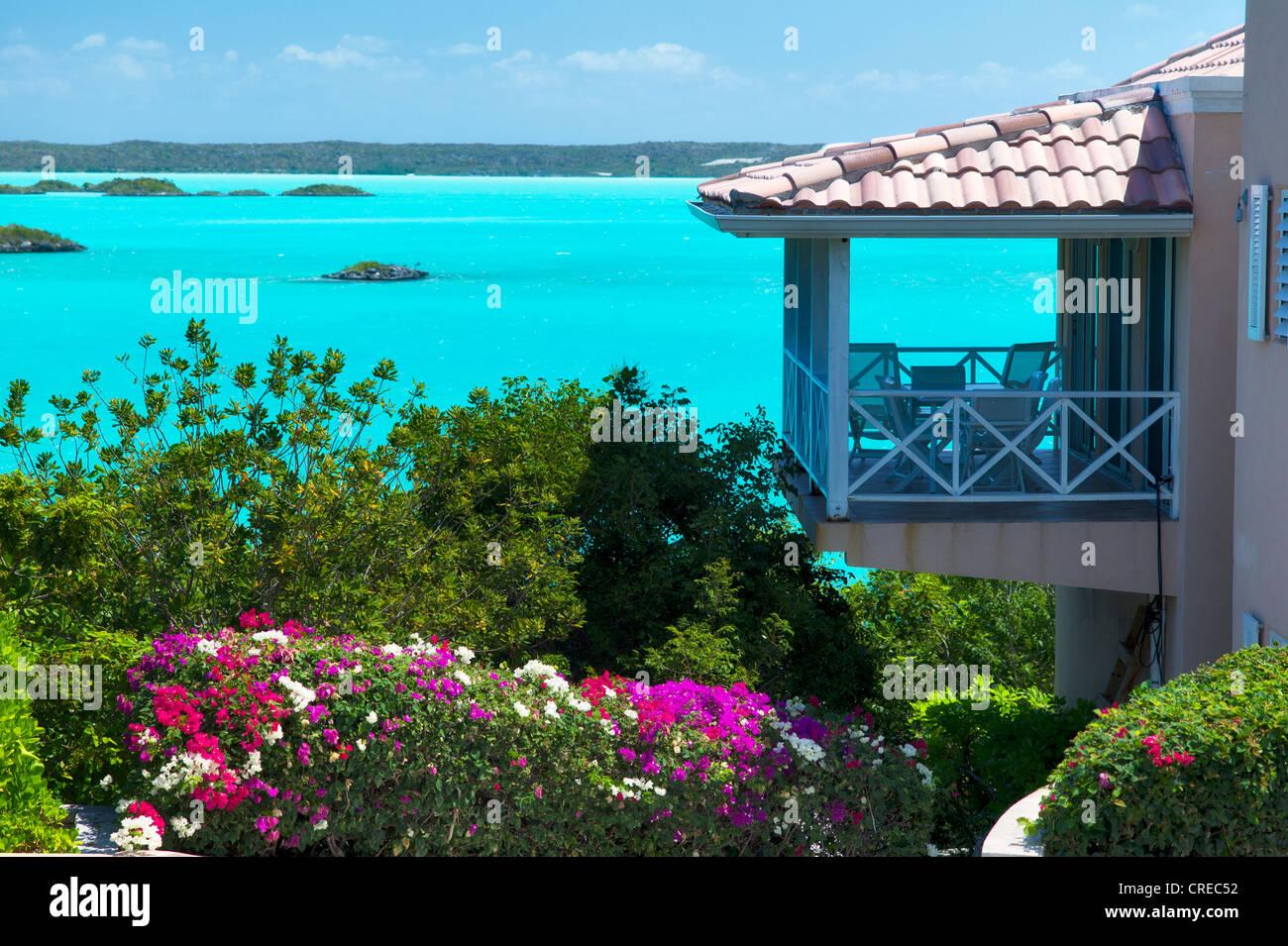 Chambre le son de la craie. Providenciales. Îles Turques et Caïques Photo Stock