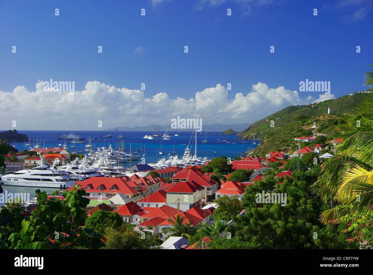 Saint Barth, Gustavia, Franzoesiche Antillen, Saint-Barthlmy Banque D'Images