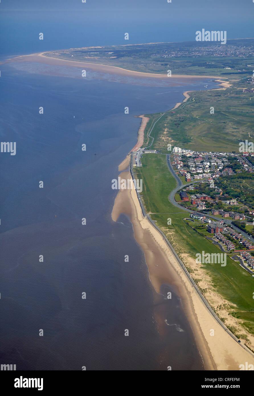 Blundell Sands et Plage, Formby, Lancashire, au nord ouest de l'Angleterre Photo Stock