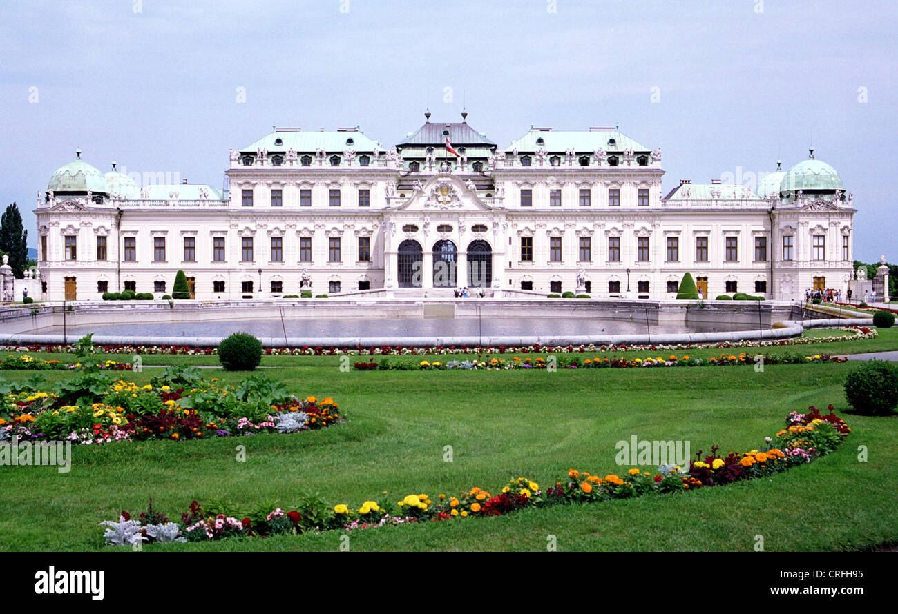 Vienne, Autriche, le Belvedere Banque D'Images