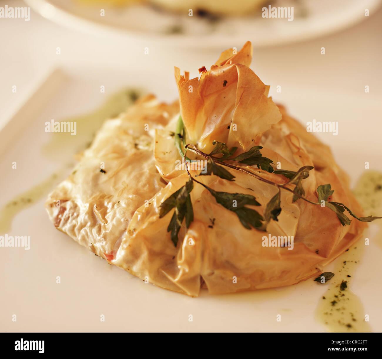 Close up de la plaque de la nourriture grecque Photo Stock