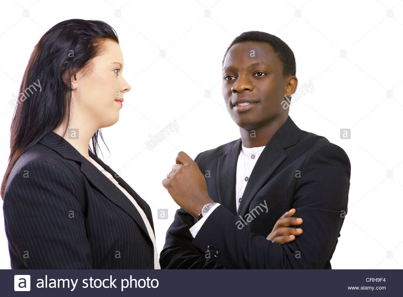 Business talk Photo Stock