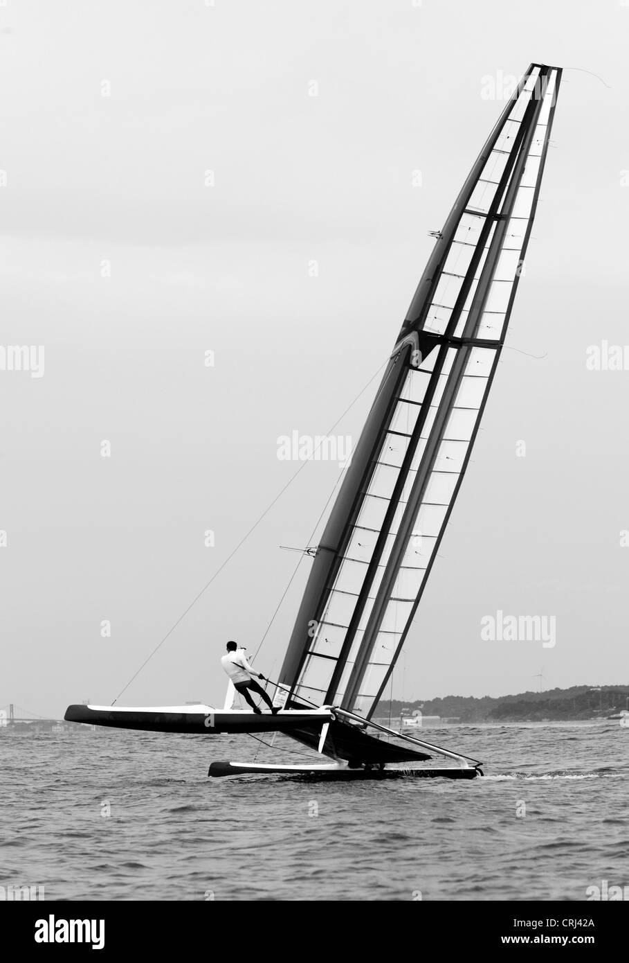 La classe C International Championnats du catamaran (IC4) a organisé à New York Yacht Club de Newport, RI du 22 au 28 août 2010. E Banque D'Images
