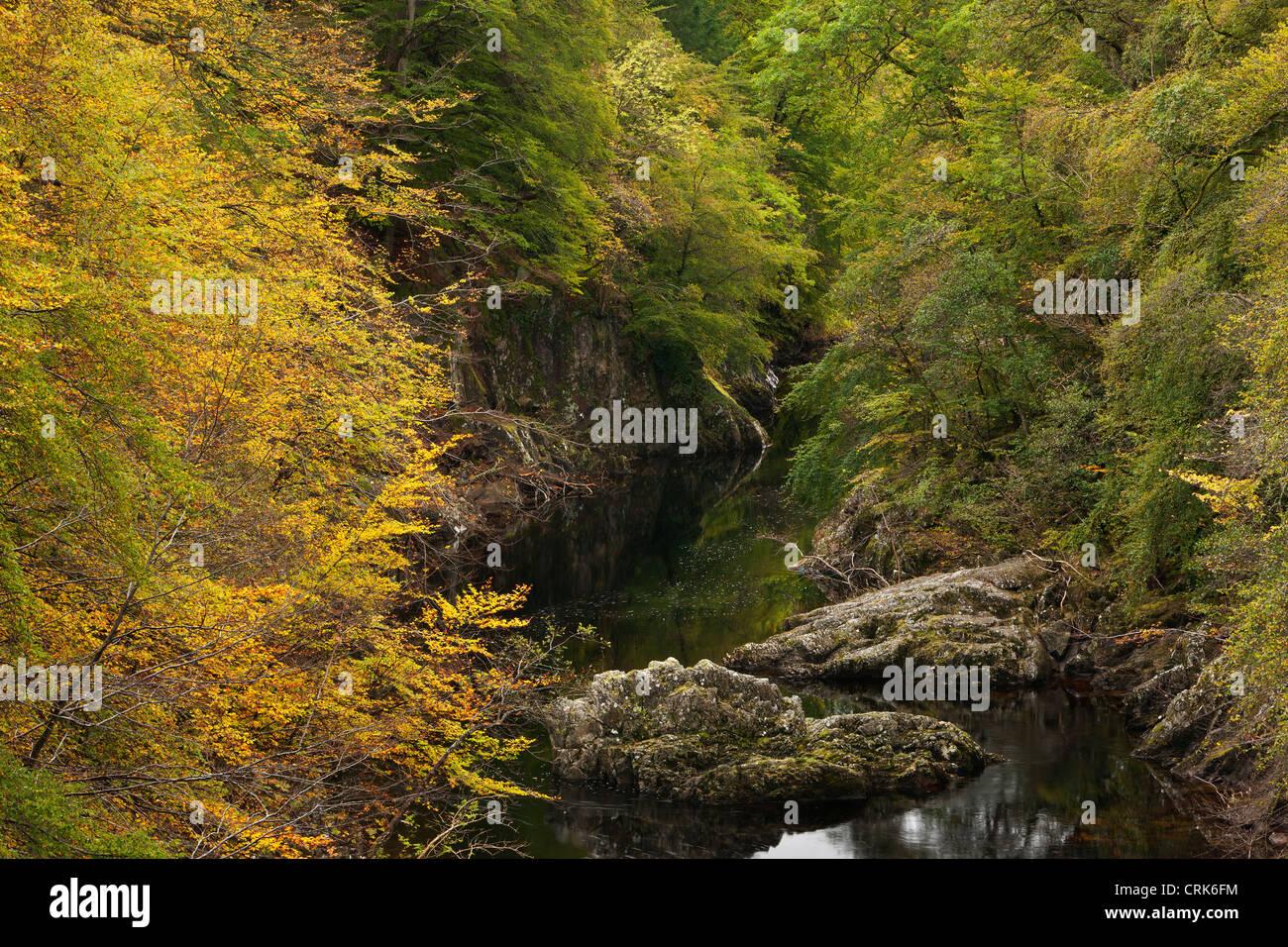 Le col de Killiecrankie et la rivière Garry, Perthshire, Écosse Banque D'Images