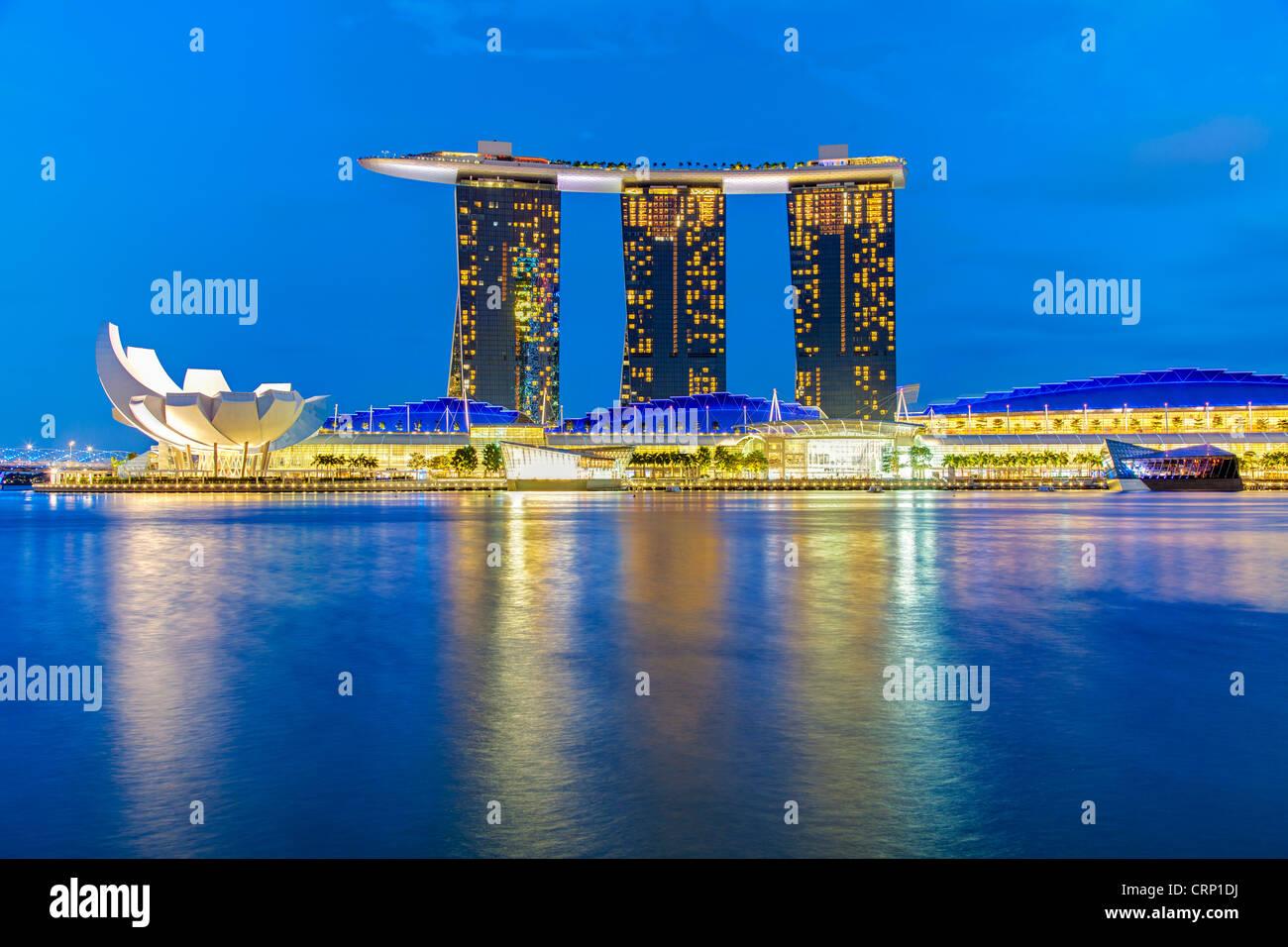 Marina Bay Sands, Marina Bay, à Singapour, en Asie du sud-est Photo Stock