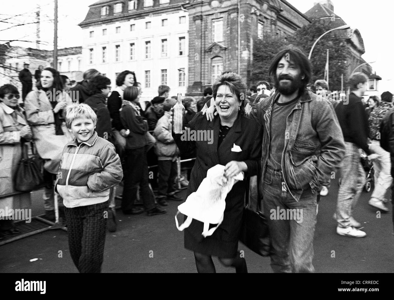 Chute du mur en 1989, Berlin, Invalidenstrasse Photo Stock