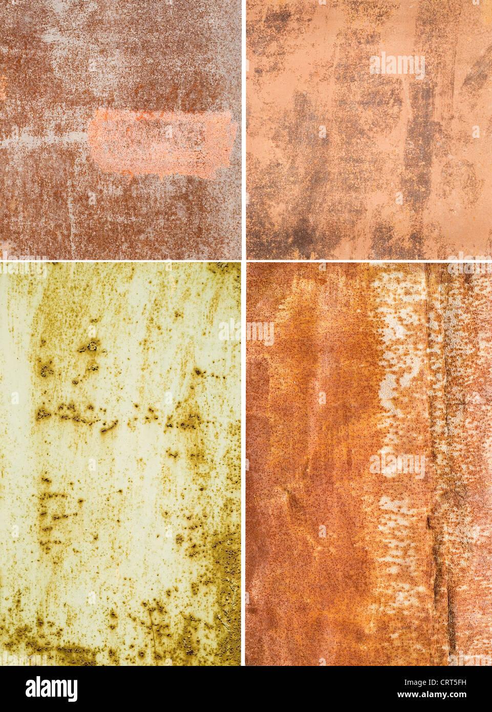 Les surfaces métalliques corrosif grande comme un arrière-plan Banque D'Images