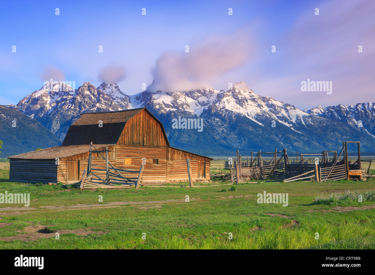 T.A Moulton Barn à Grand Teton National Park Photo Stock