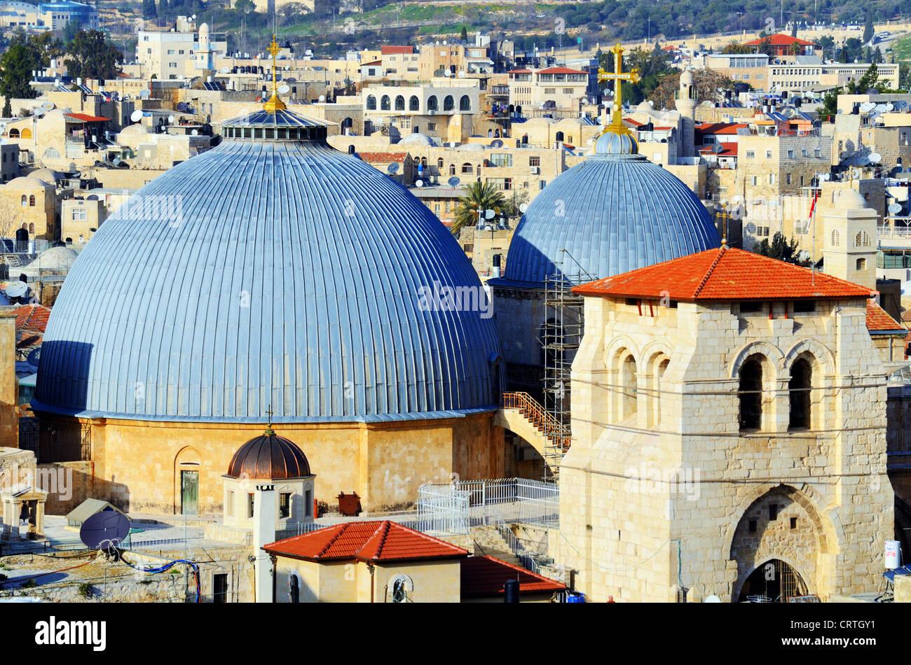 Coupole du dôme de l'église du Saint Sépulcre à Jérusalem, Israël Photo Stock