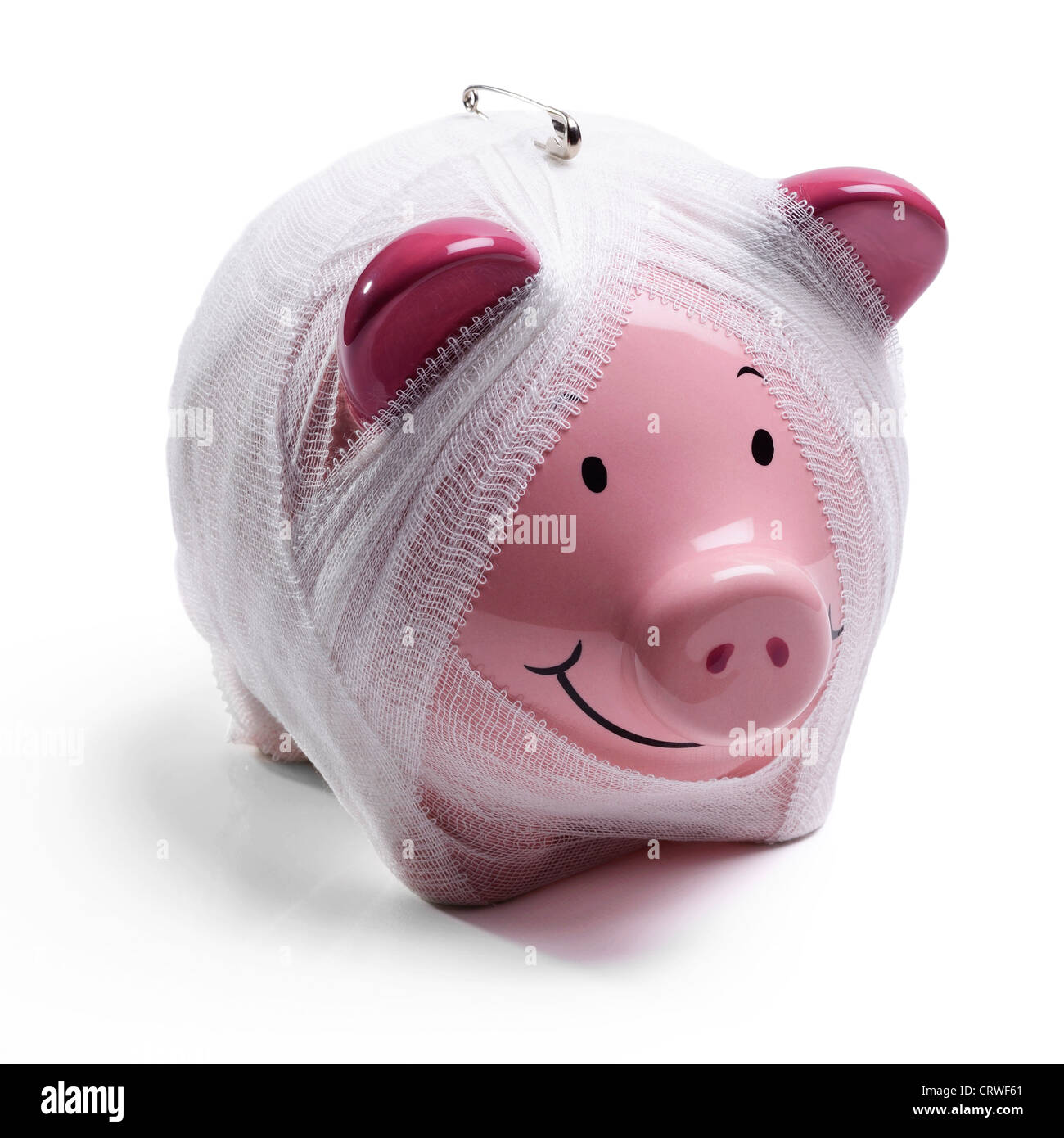 Concept Pink piggy bank Photo Stock