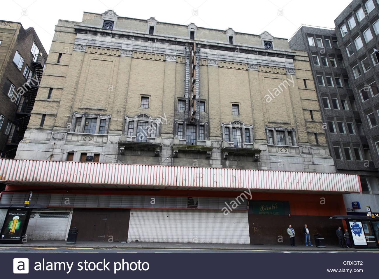 Cinéma Odeon fermé à Newcastle upon Tyne Photo Stock