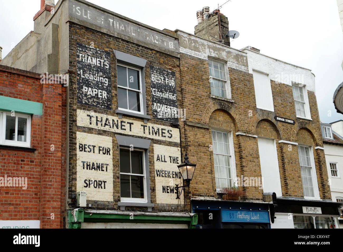 Anciens locaux du journal The Times de Thanet, rue Large, Margate, Kent Photo Stock