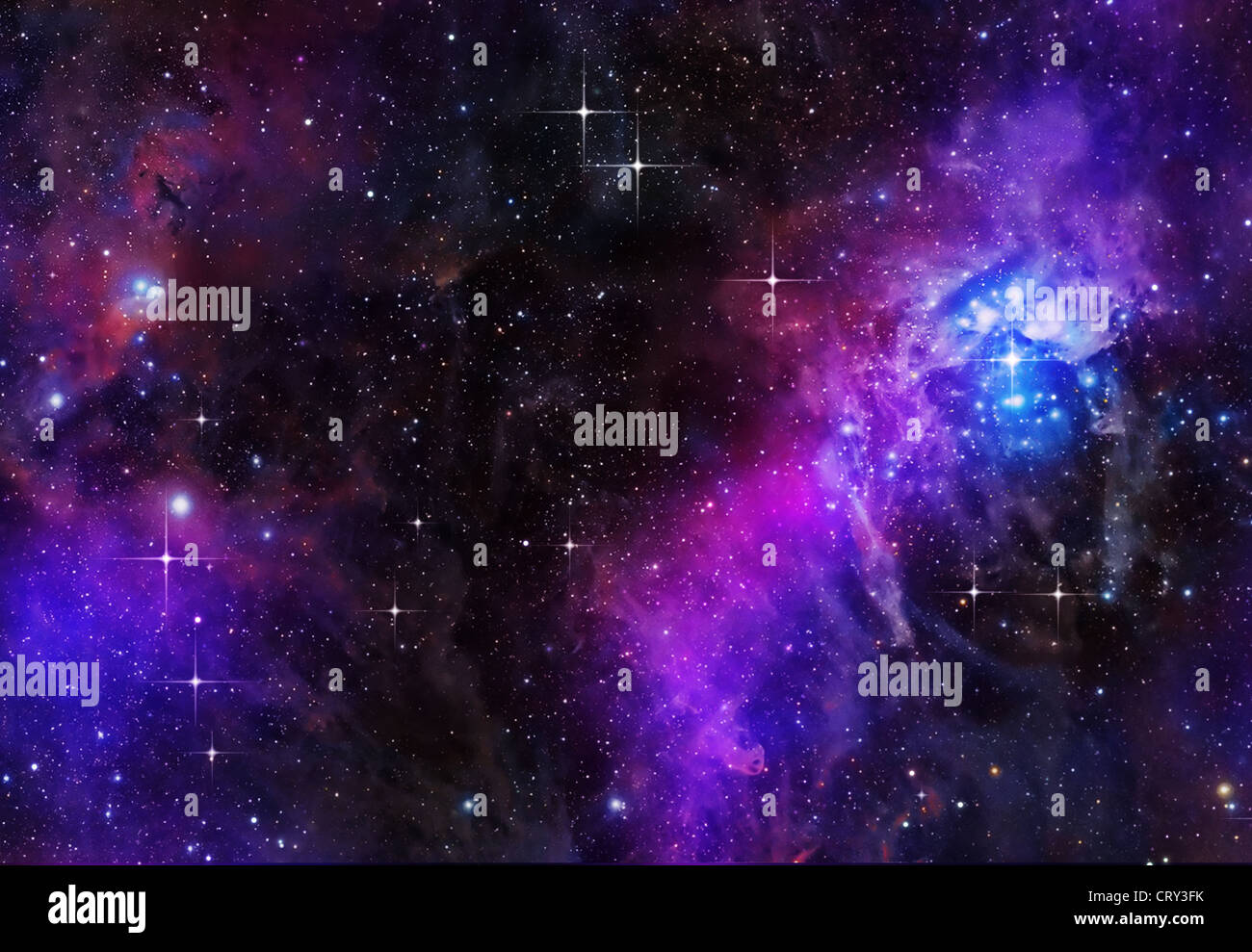 Grande image d'étoiles en profondeur ou l'espace Banque D'Images