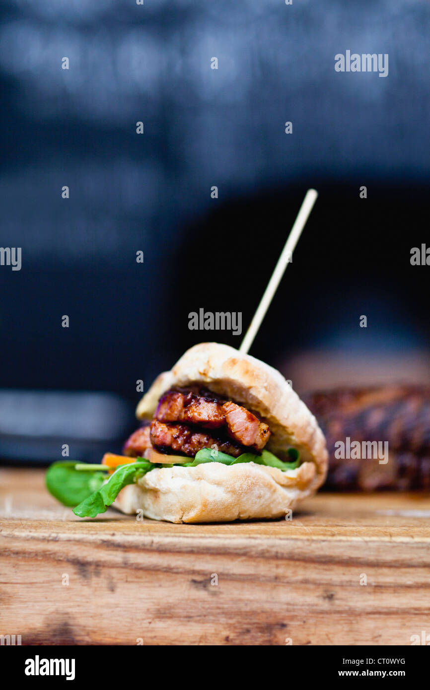 Close up of sandwich brochette Photo Stock