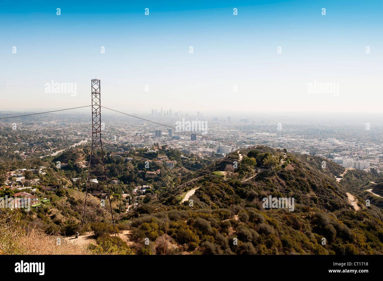Vue aérienne de Los Angeles Photo Stock