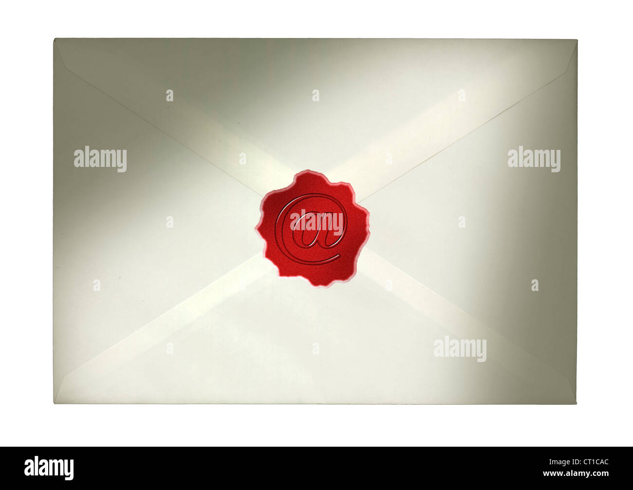 Lettre d'un joint et un signe sur elle - Bref mit und als Zeichen à Siegellack 2005-2009 standard Photo Stock