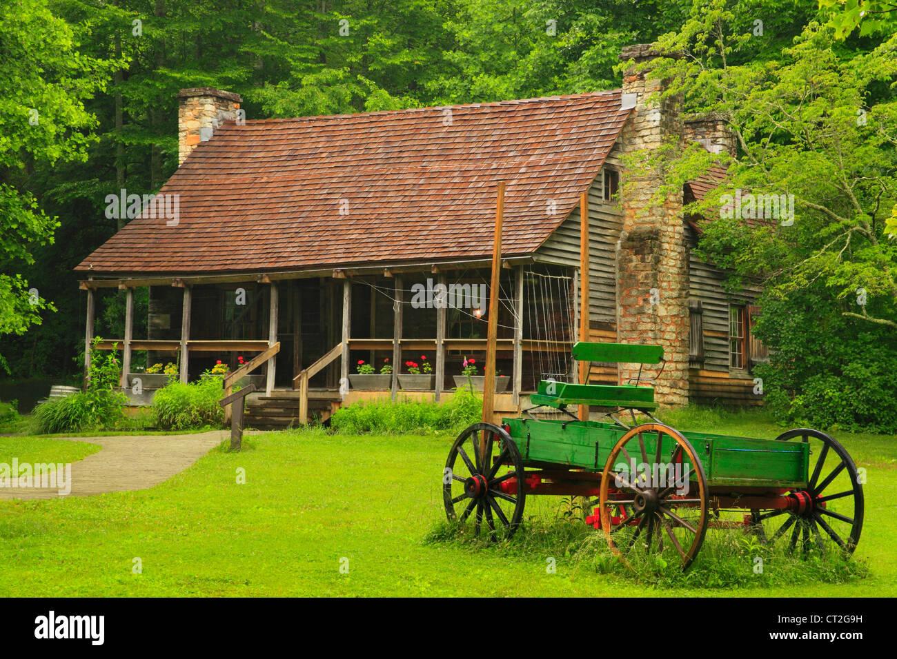 Biltmore Forest School de berceau de la foresterie, Brevard, North Carolina, États-Unis Photo Stock