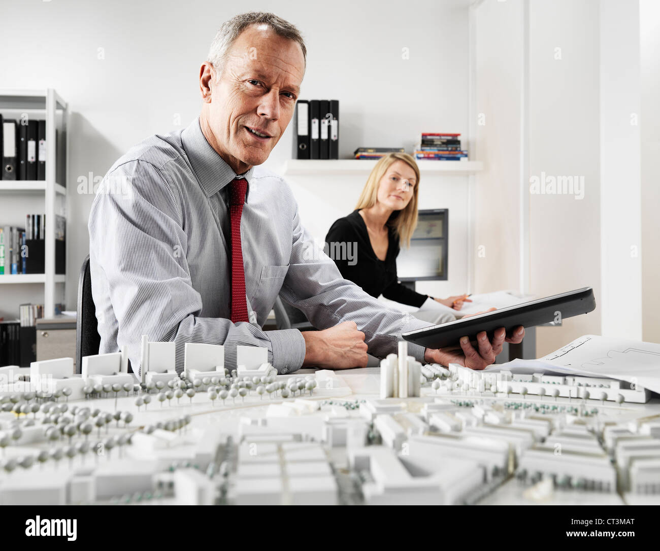 Business people working in office Banque D'Images
