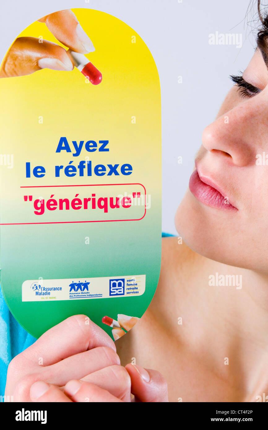Médicament générique, de l'information Photo Stock