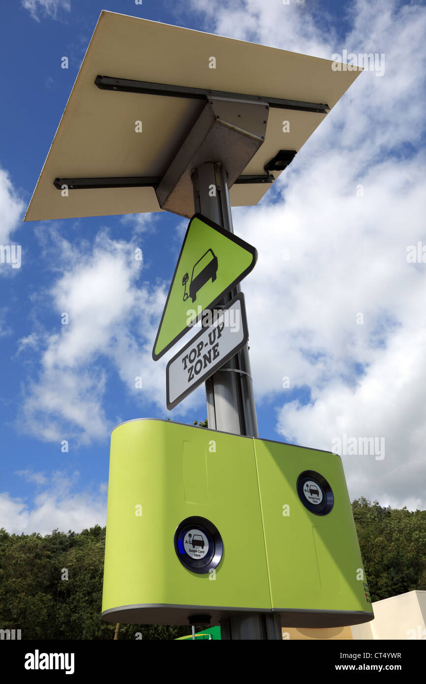 Point de recharge pour voiture électrique Photo Stock