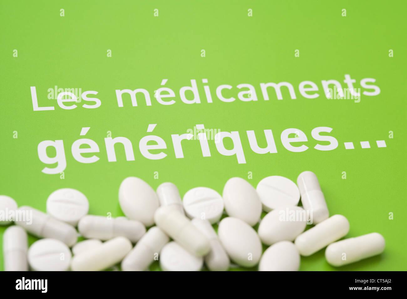 MÉDICAMENTS GÉNÉRIQUES Photo Stock