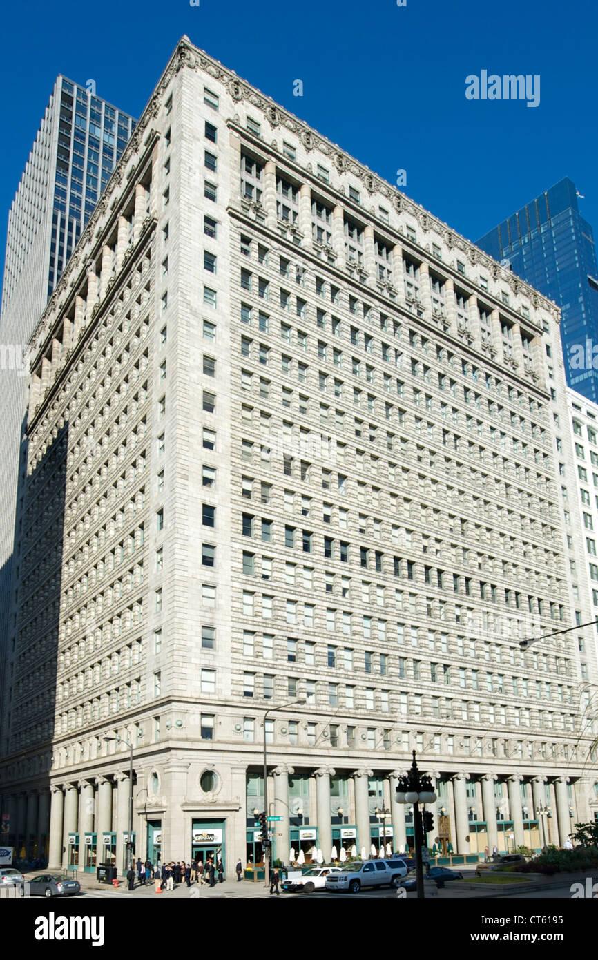 Peuples autochtones Gas Company Building à Chicago, Illinois, USA. Banque D'Images