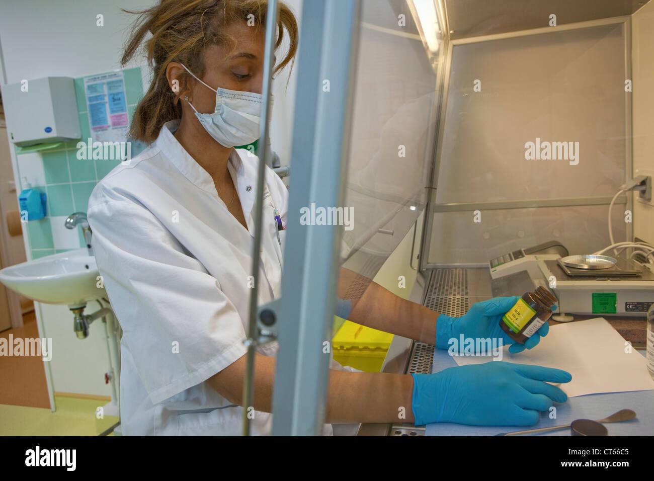 Préparation de médicaments Photo Stock
