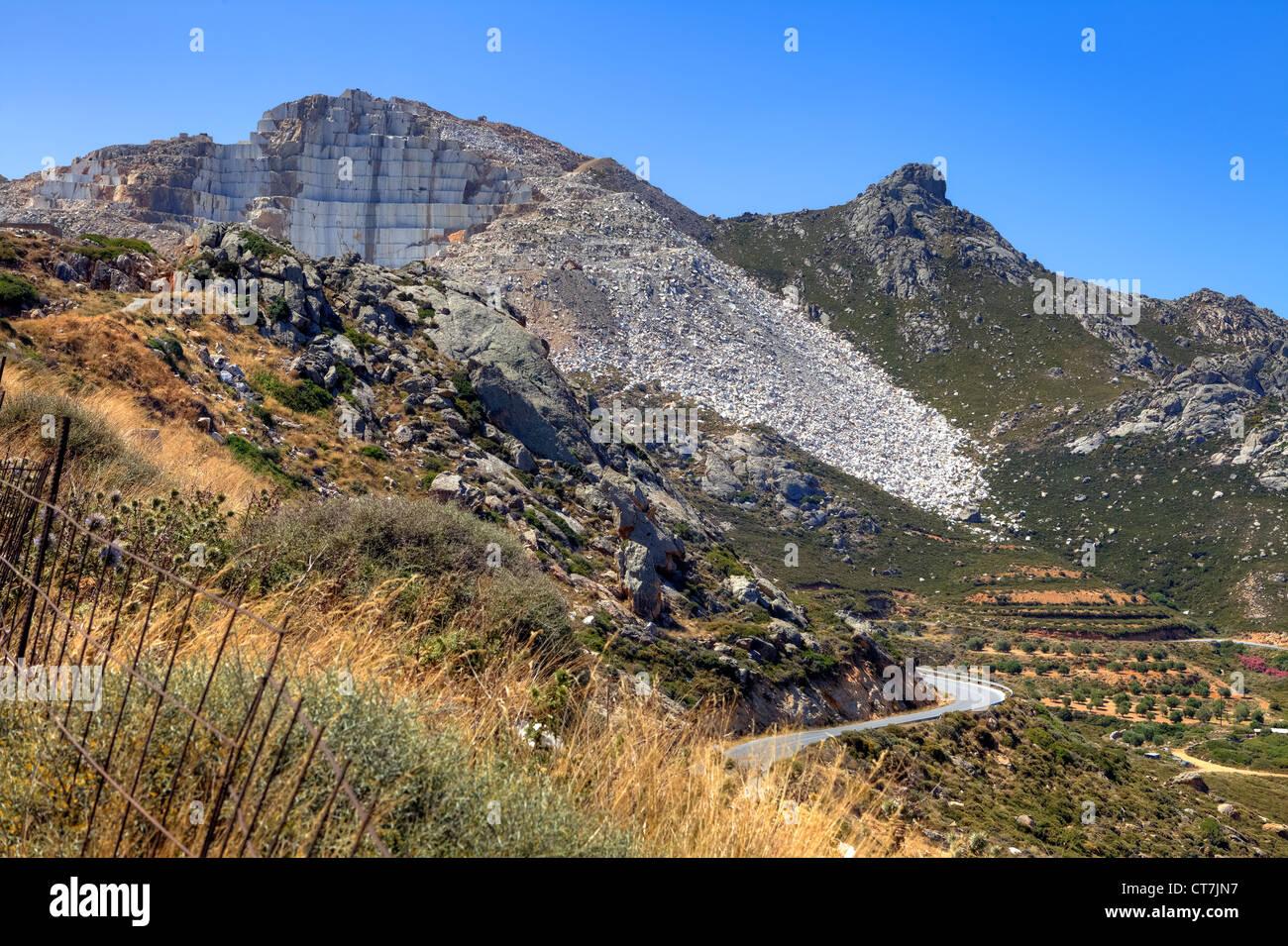 Naxos est célèbre pour son marbre - Carrière de marbre de Naxos, Naxos, Grèce, Flerio Photo Stock