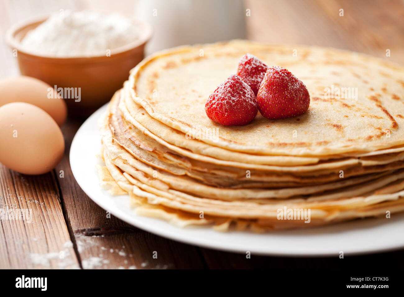 crêpes Photo Stock