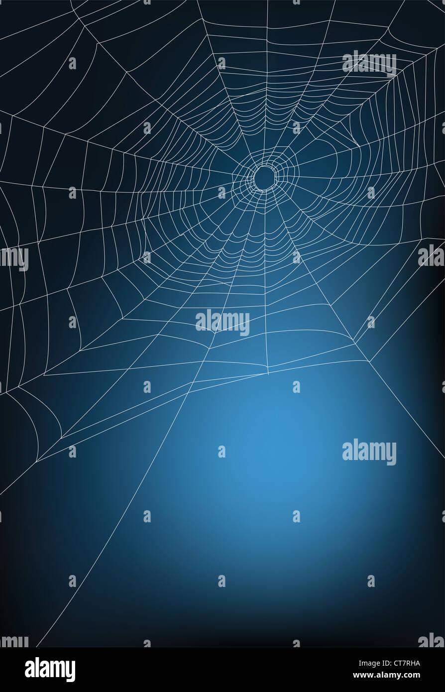 Spider web illustration, pour l'arrière-plan. Photo Stock