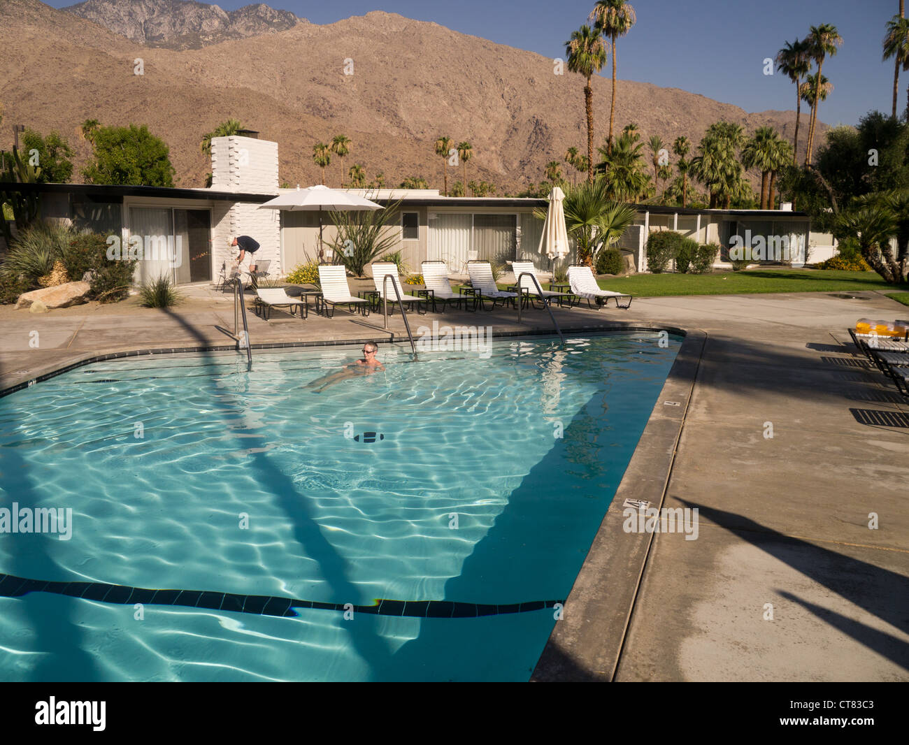L'Horizon Hotel à Palm Springs, conçu par William Cody pour Jack Wrather en 1952. C'est maintenant Photo Stock