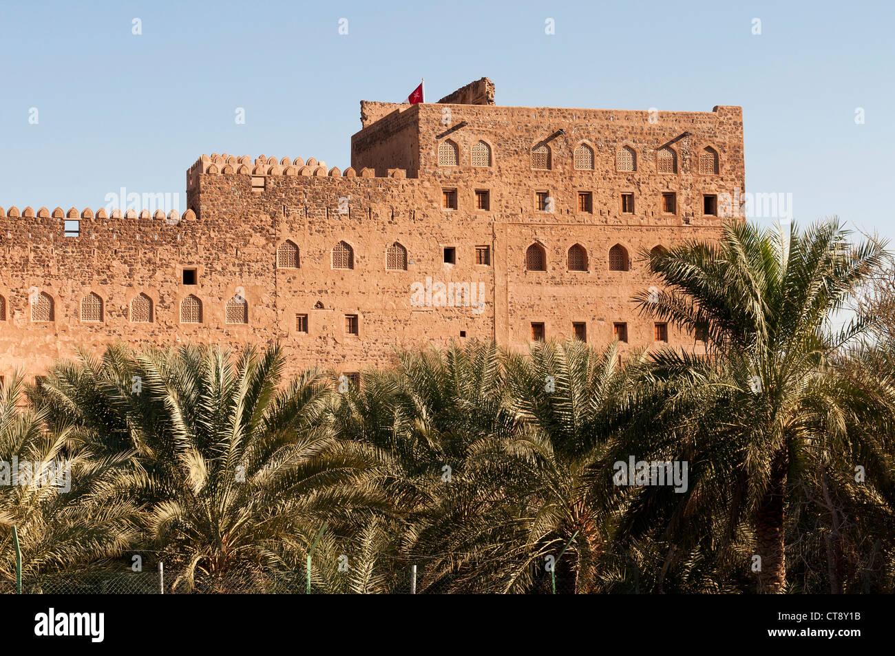 Elk207-2638 Oman, le fort de Jabrin, 17e c Photo Stock