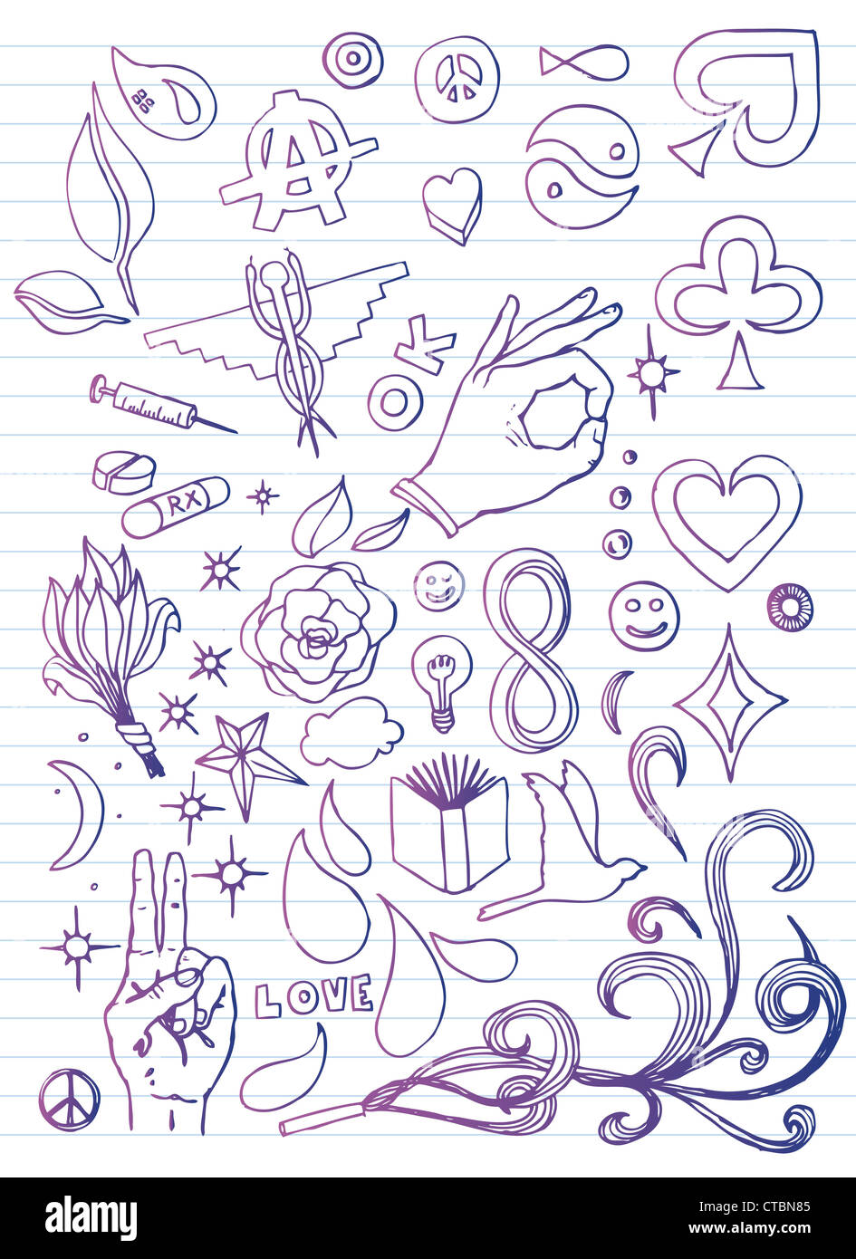 Papier de Doodle Photo Stock