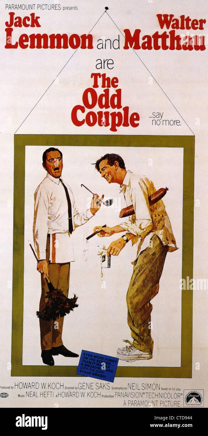 Un drôle de couple pour l'affiche 1968 Paramount film avec Jack Lemmon et Walter Matthau Banque ...