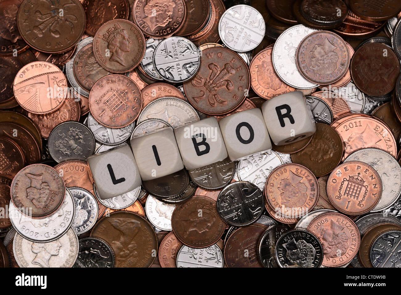 Concept finance Libor Photo Stock