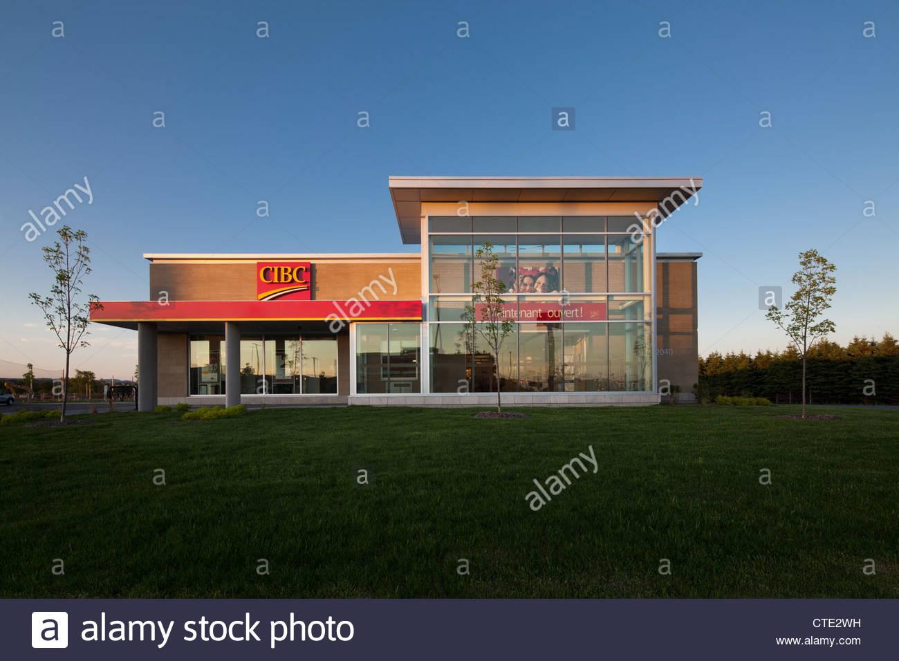 Direction générale de la banque CIBC nouveau bâtiment, Québec, Canada Photo Stock