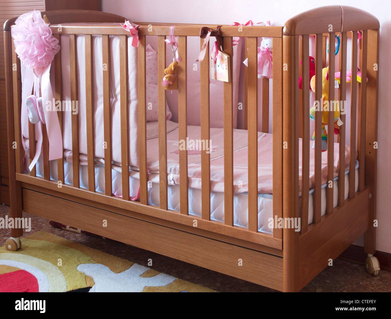 Berceau de bébé Photo Stock