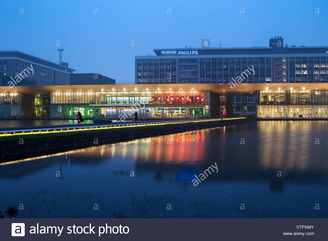 Veldhoven près d'Eindhoven, Philips High Tech Campus. Quartier appelé de bande. L'endroit pour Photo Stock