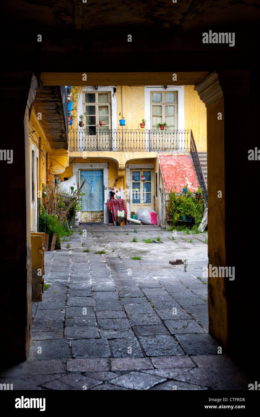 À l'ouverture d'appartements à Puebla, Mexique Photo Stock
