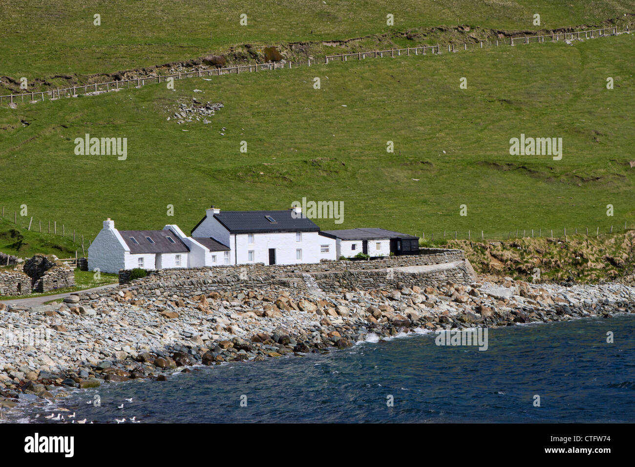 Norwick, Unst, Shetland Isles Photo Stock
