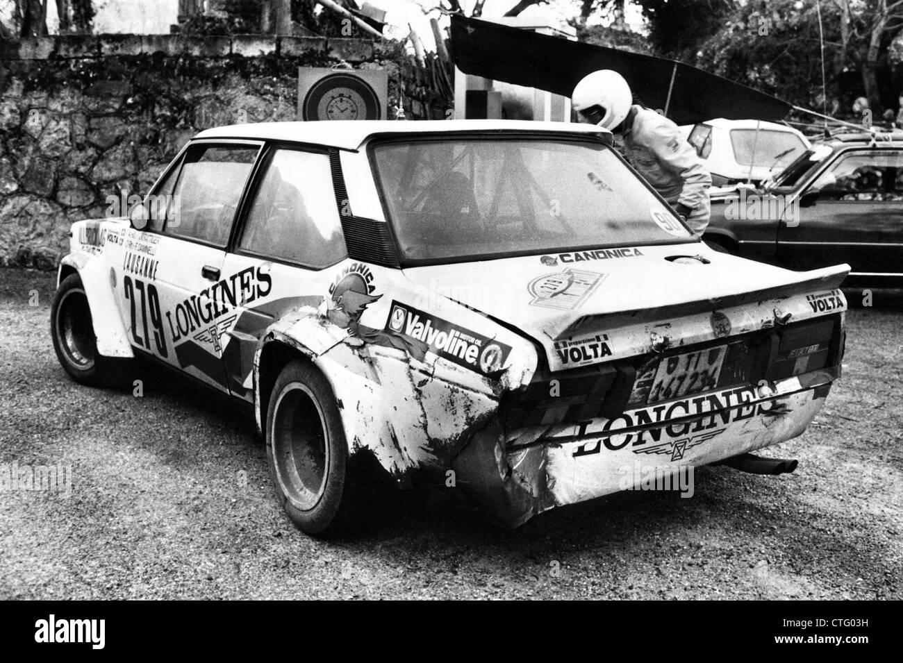 Rallye Monte Carlo 1982 FIAT Abarth 131 à contrôle en temps réel Photo Stock