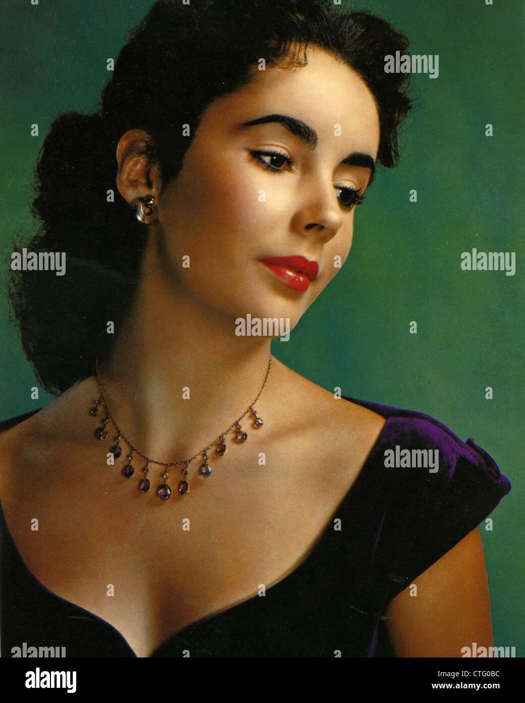 ELIZABETH TAYLOR (1932-2011) Actrice américaine vers 1950 Photo Stock