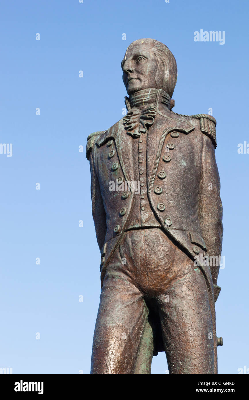 Bantry, West Cork, Irlande. Statue de Theobald Wolfe Tone, 1763 - 1798, Irish revolutionary..... Photo Stock