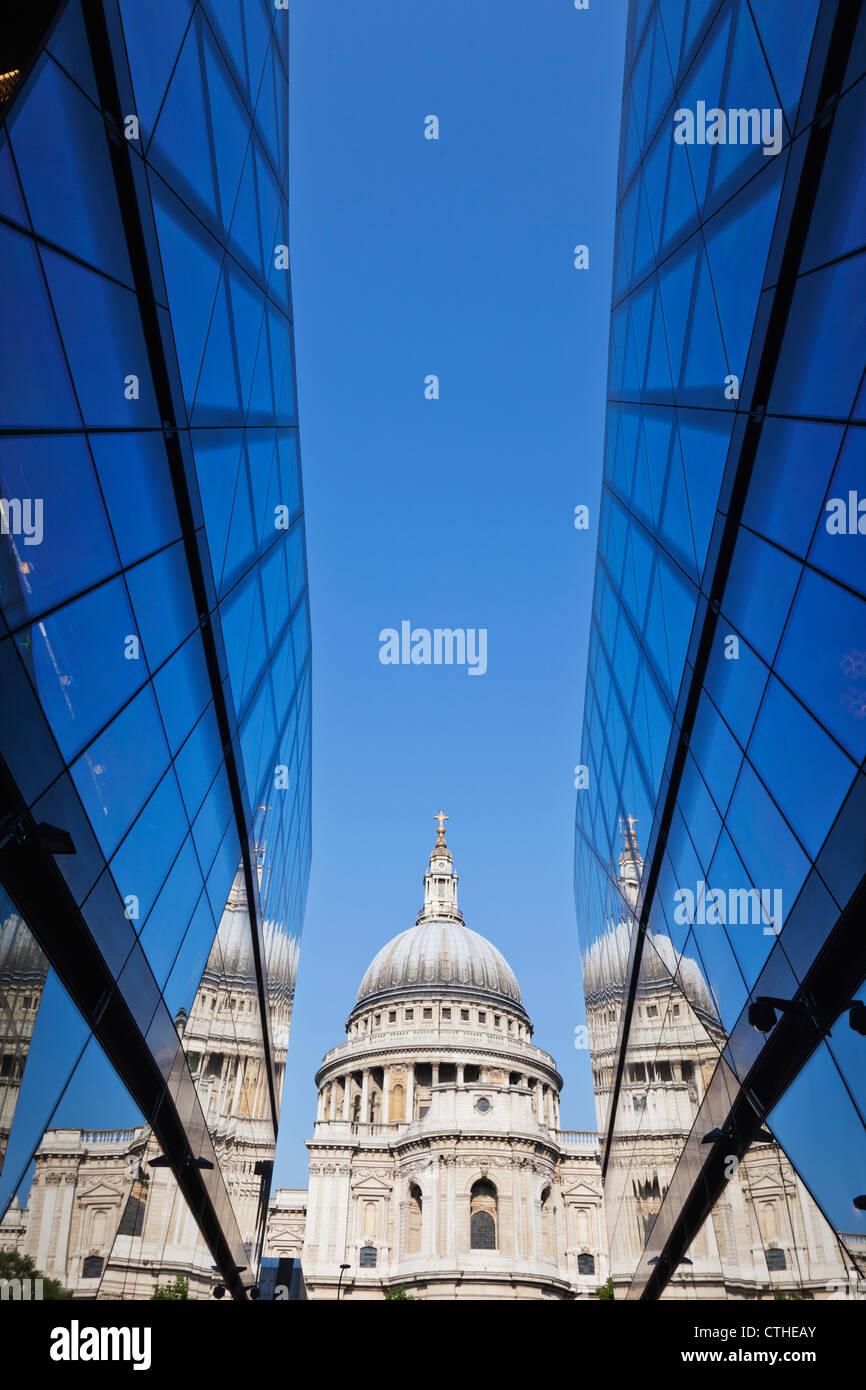 L'Angleterre, Londres, la ville, la Cathédrale St PaulBanque D'Images