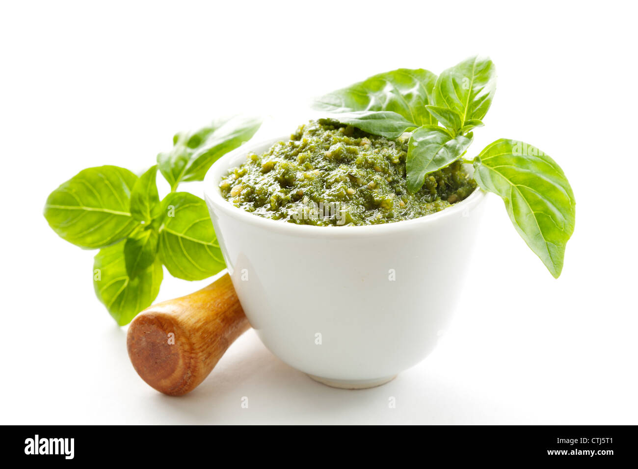 Sauce Pesto au basilic Photo Stock
