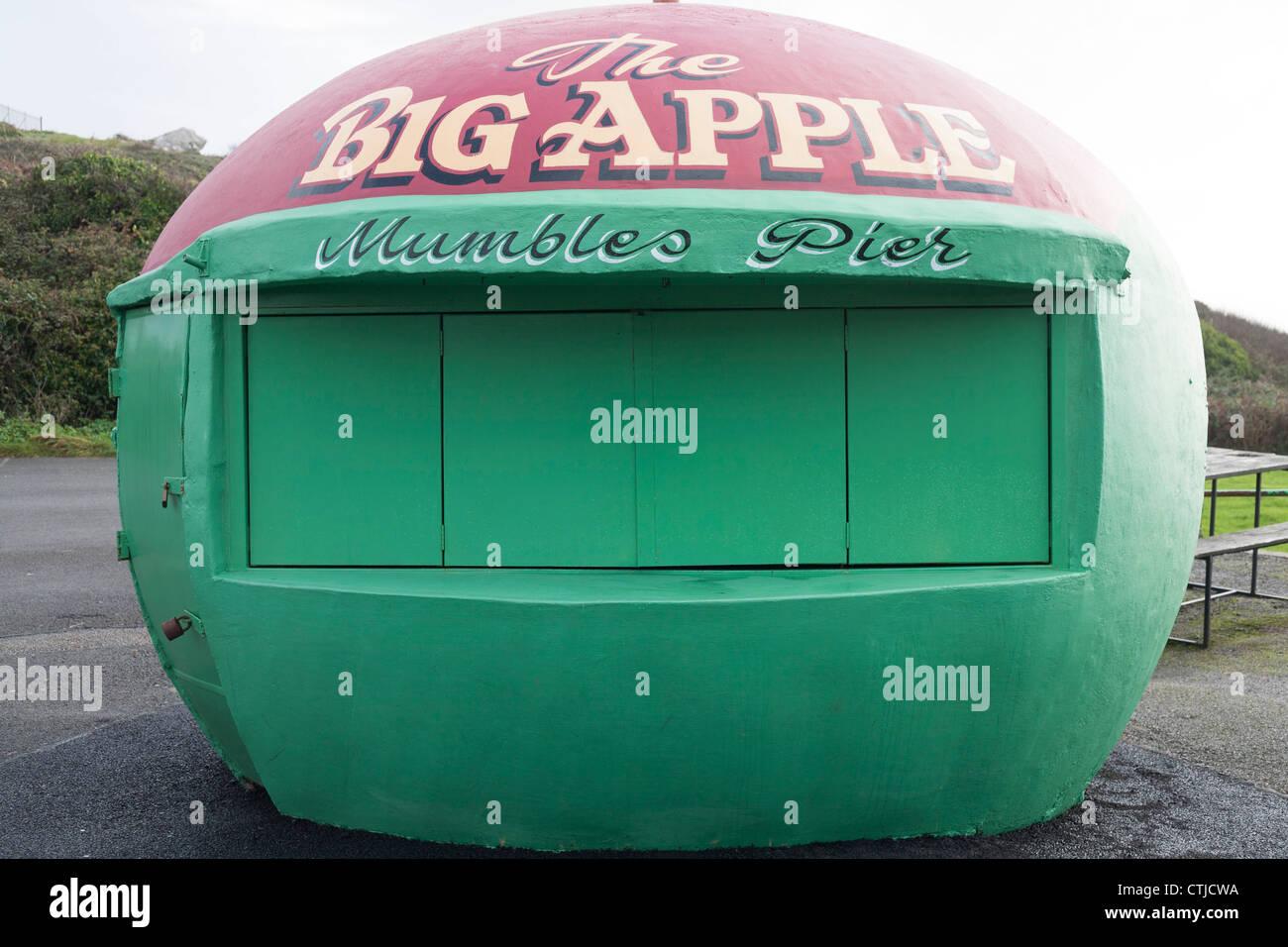 La grosse pomme dans Mumbles Swansea Photo Stock