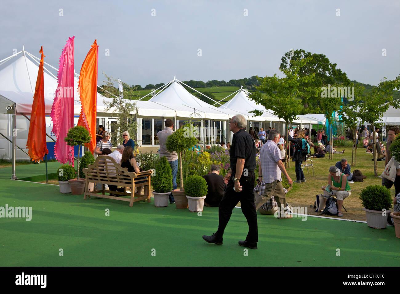 Jardin Central au Guardian Hay Festival de littérature 2010, Hay-on-Wye, Powys, Pays de Galles, Cymru, UK, Photo Stock