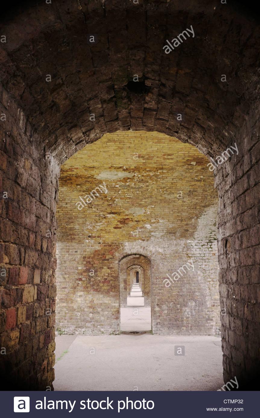 Plusieurs voûtes en brique, Londres, Royaume-Uni. Photo Stock
